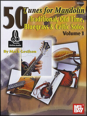 50 Tunes for Mandolin Volume 1 TAB Music Book with Audio Bluegrass Celtic Solos