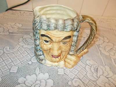 LOVELY  COLLECTORS TOBY JUG = THE JOVIAL JUDGE JAPANESE MAKE HEIGHT 152mm.