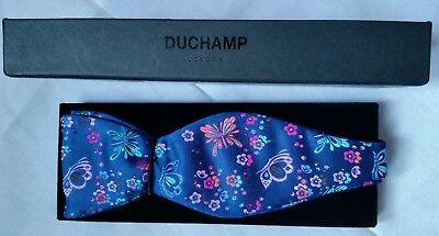 Duchamp London Bow Tie , 100% Silk Made In Italy