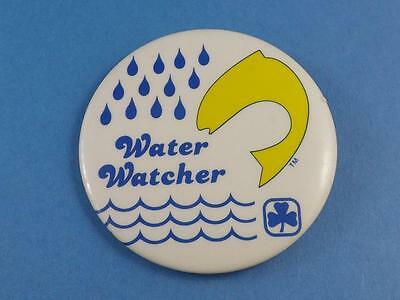 Girl Guides Water Watcher Metal Button Fish Patch Badge Collector