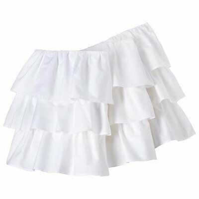 NEW...Beautiful 3 Layers of White RUFFLES CRIB BEDSKIRT Dust Ruffle