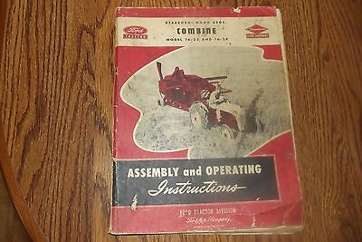 Old Ford Combine Owners Manual