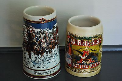 2 Budweiser Collectible Steins.