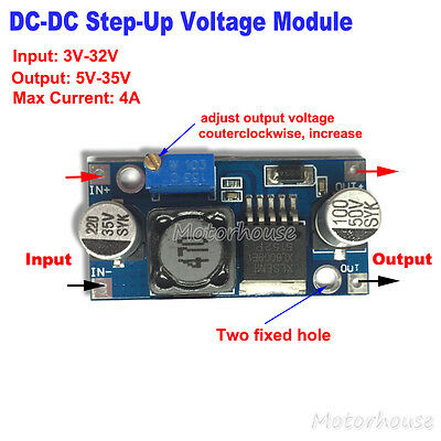 DC-DC 4A Boost Converter 3V-32V 12V to 5V-35V 24V Step Up Power Supply Module