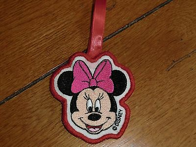 Embroidered Ornament - Christmas - Minnie Mouse