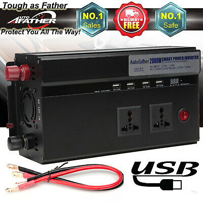 Car 2000W/4000Watt converter power inverter DC 12V to AC 220V invertor with USB
