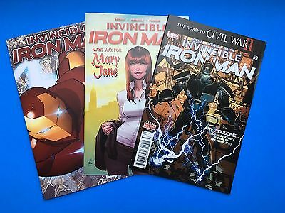 Invincible Iron Man 1,4,9 1st Full Riri Williams Appearance, Marvel, Key, Bendis