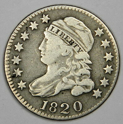 1820 Capped Bust Dime - Bold Vf With Great Eye Appeal - Priced Right!