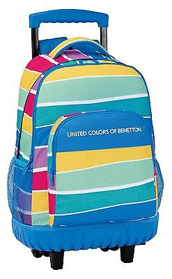 "BENETTON ""STRIPES"" Mochila grande con ruedas compact/Trolley/Big rucksack wheels"