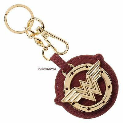 Licensed Dc Comics Wonder Woman Logo Metal And Canvas Key Ring With Bag Clip