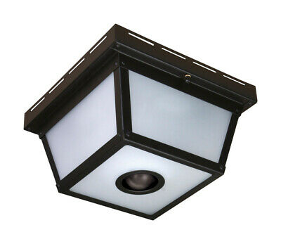 Heath Zenith Motion Activated Outdoor Ceiling Light 5.5 In. Blk