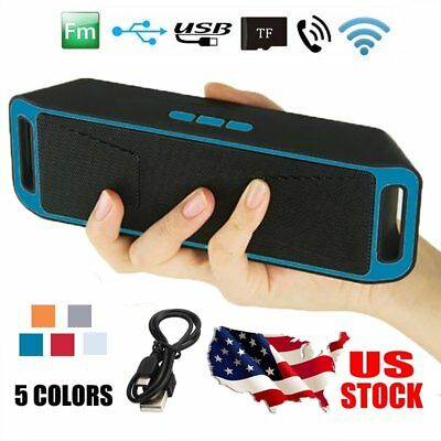 Portable Shockproof FM Stereo Wireless Bluetooth Speaker For Tablet Phone iPod