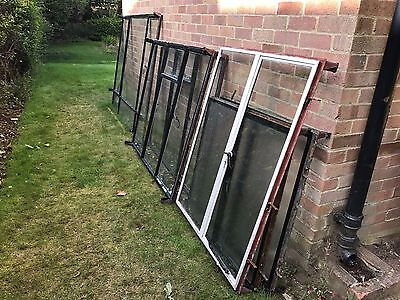 Set of original crittall casement windows of varying sizes - all with glass