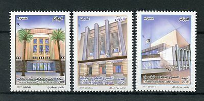 Algeria 2017 MNH Regional Theatres 3v Set Architecture Buildings Stamps