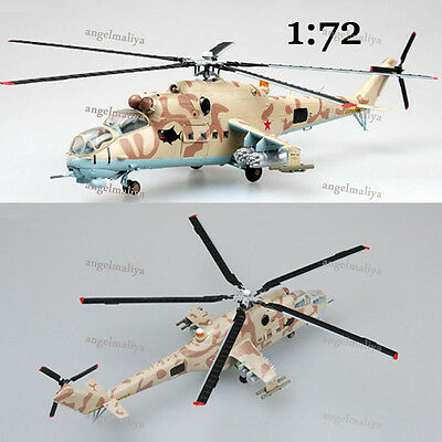 Russian 1/72 Mil Mi-24 hind helicopter diecast plane Easy model High Quality NEW