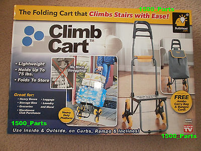 CLIMB CART Stair Climbing Folding Cart, Easily tote groceries up steps FREE SHIP