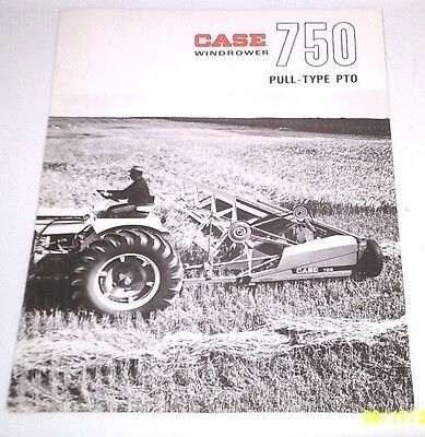 1966 Case Tractor 750 Pull Type Windrower Brochure