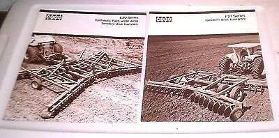 2 - 1970S Case Tractor F21 E30 Tandem Folding Harrows Disk Disks Brochure