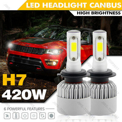 New CREE H7 420W LED Headlight Lamp Light Bulbs Conversion Kit For Mercedes-Benz