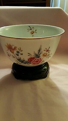 Avon Porcelain Bowl with Display Stand