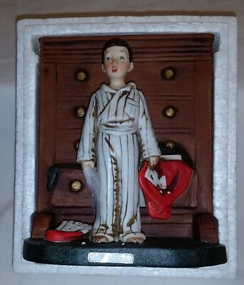 Norman Rockwell 1975 Figurine DISCOVERY Saturday Evening Post Dave Grossman NR20