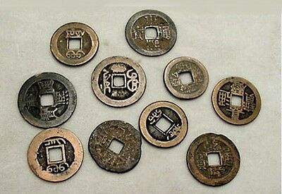 10 Old China Cash Coins