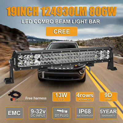 CREE 19Inch 806W LED Work Light Bar Spot Flood For Chevrolet Jeep GMC US Stock