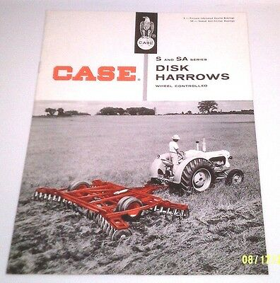 1958 Case Tractor S Sa Disk Harrows Wheel Controlled Brochure