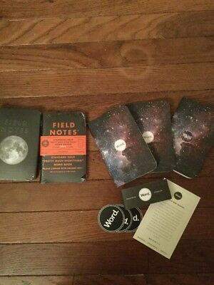 Pocket Notebook Lot Field Notes Lunacy Subscriber, DDC Limited & Word Starry Sky