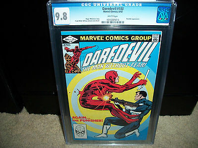 Daredevil # 183 CGC 9.8  White Pages  Punisher  Nicely Centered   1982
