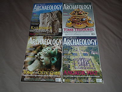 Current World Archaeology Magazine, 4 Issues, Numbers 70, 71, 72 and 77.