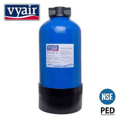 Vyair 0817 DI Resin Vessel 11 Litre & Hozelock Clunk-Click Fittings - Filled (1)