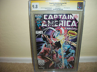 Captain America Annual 8 CGC SS 9.8 WP  Wolverine  signed by Stan Lee  Mike Zeck