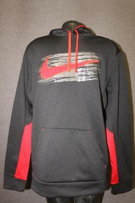 NWT Size Large Men's Nike Hoodie THERMA-FIT Training 749517 010 black red NEW
