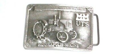 Rare Mm Minneapolis Moline Uts Tractor Belt Buckle By Spec Cast #355 Of 1500