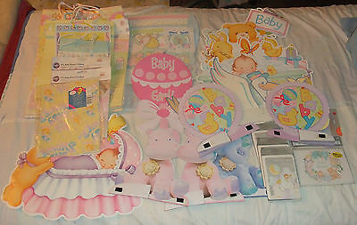 Baby Announcemens, Shower Invitations, Gift Bags, Garland, etc. Unisex Lot