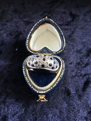 9ct Gold Sapphire and Diamond Ring. Size N Free P&P.