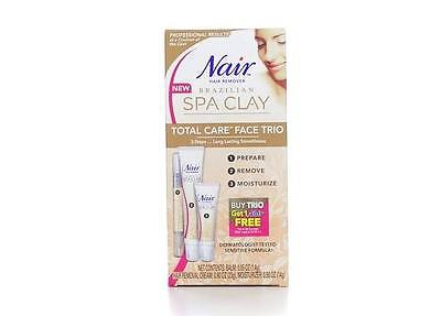 Nair Brazilian Spa Clay Total Care Face Trio, 1.35 OZ ( LOT OF 12 PIECES )