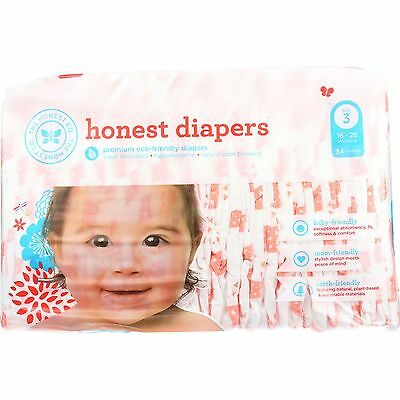The Honest Company Diapers Giraffes Size 3 Babies 16 to 28 lbs 34 count