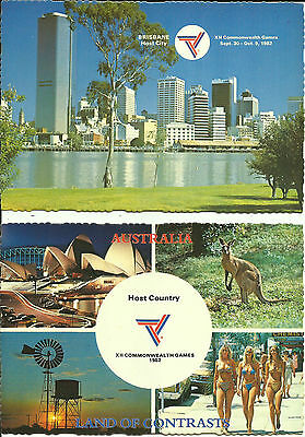 Two Postcards - XII Commonwealth Games, Brisbane, Queensland, Australia - 1982