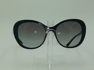 Giorgio Armani AR8064 Black Round Cat Eye Frame w/ Black Lenses