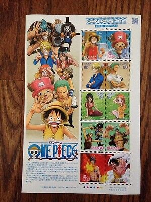Japanese Post Office  One Peace  Anime Stamp Sheet New US Seller