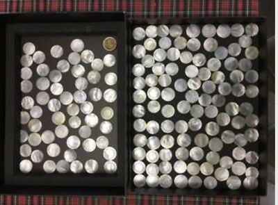 Large Antique collection of 19th Century Mother of Pearl Chinese Gaming Counters