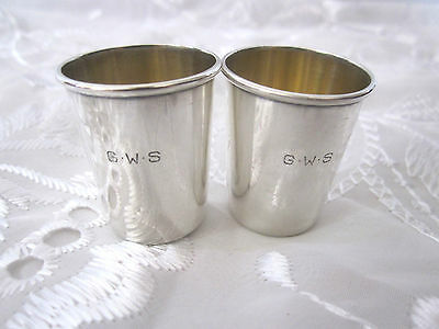 G W S Sterling Silver Mini Goblet Cups 25 GM