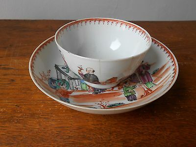 18th.Chinese Quianlong pink family famille rose porcelain  cup & saucer plate
