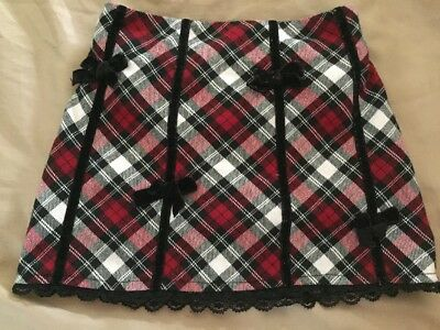 Toddler Girls The Children's Place Skirt Skorts Holiday Plaid Size 24 Months