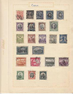 CHILE  EARLY COLLECTION on old album Page USED