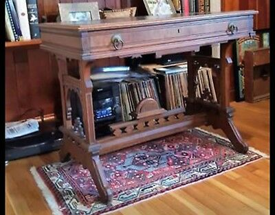 Antique Eastlake Victorian Library Table