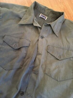 Vintage 1970's Big Smith Sanforized Cotton Destroyed Work Shirt