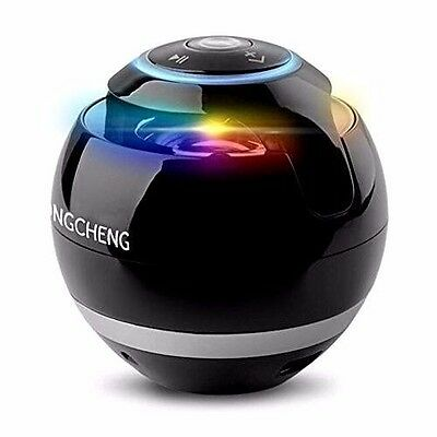 Portable Speaker Bluetooth Wireless With LED Lights Colors & 3.5mm Jack NEW GIFT